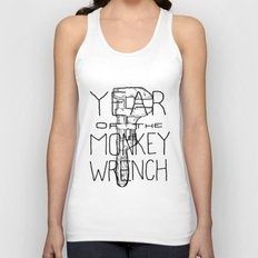 Year of the Monkey Wrench Unisex Tank Top