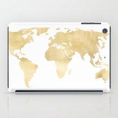 Gold World Map iPad Case