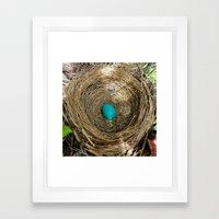 One Little Robin's Egg Framed Art Print