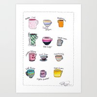 United States of Tea Art Print