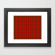 Christmas Plaid Framed Art Print