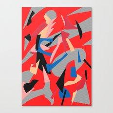 Redactive Canvas Print
