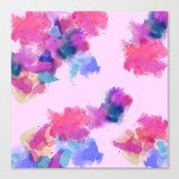 Printed Silk Rose Clouds Canvas Print