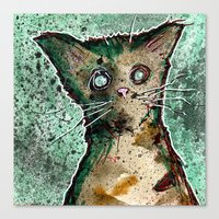 Turtle the turtle shell zombie kitten Canvas Print