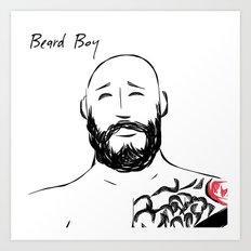 Beard Boy Tattoo 5 Art Print