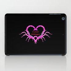 Love Stings - Black Background iPad Case