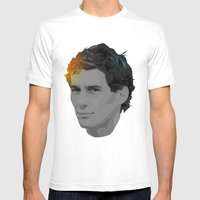 Ayrton Senna Mens Fitted Tee White SMALL