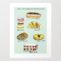 Des Patisseries Francais Art Print