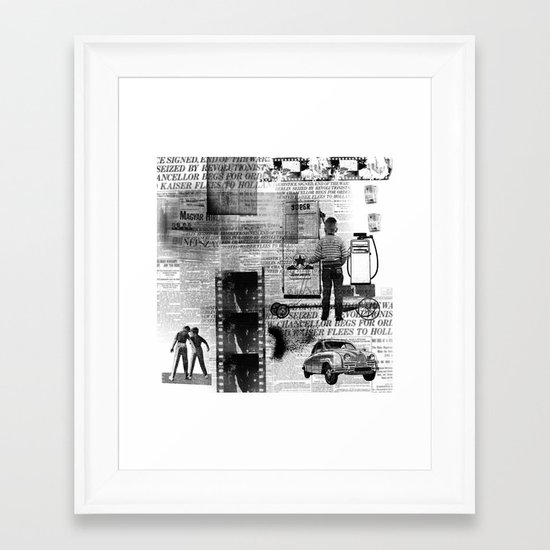 paper billy cart Framed Art Print
