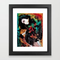Trapped in the Thought Prison Framed Art Print