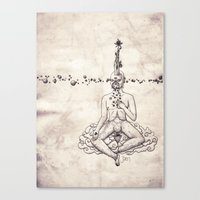 Tarot: V - The Hierophant Canvas Print