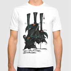 Murder of Crows Mens Fitted Tee SMALL White