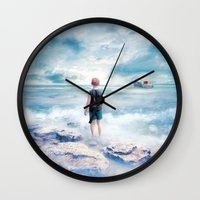 Waiting At The Water's E… Wall Clock