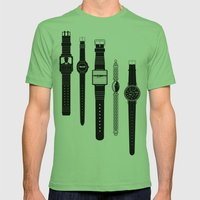 Watching V2. Mens Fitted Tee Grass SMALL