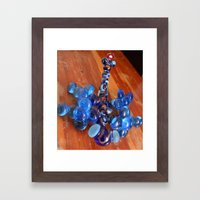 Blue Dragonfly Framed Art Print