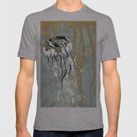 Jellyfish Voyage Mens Fitted Tee Athletic Grey SMALL