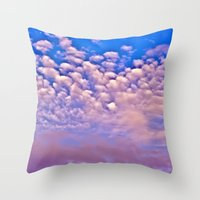Strawberry Skies Throw Pillow