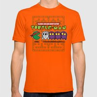 Hero in a Pac-Shell (Raph) Mens Fitted Tee Orange SMALL
