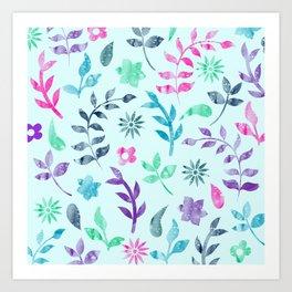 Art Print - Seamless Flower Pattern - KAPS Studio