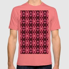 Purple White Flower Patt… Mens Fitted Tee Pomegranate SMALL
