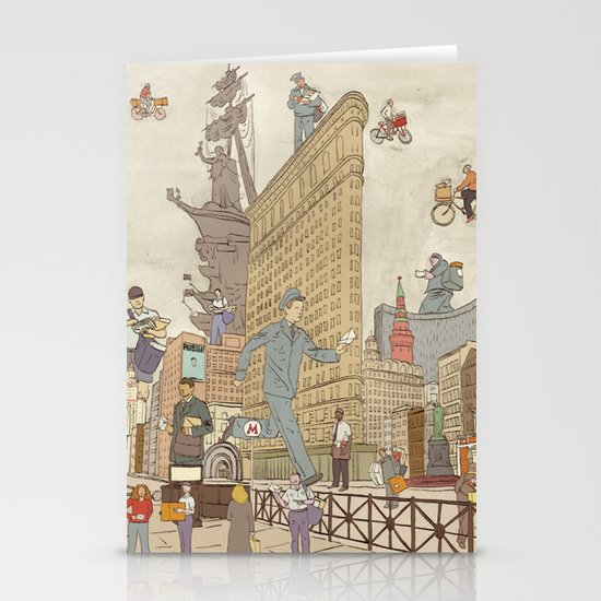 St. Petersburg Literary Map Stationery Card