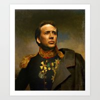Nicolas Cage - Replacefa… Art Print
