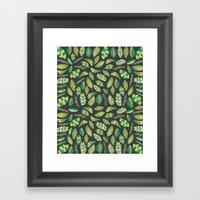 Night Tropical Jungle Framed Art Print