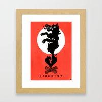 Black Dog: Exorcise Framed Art Print