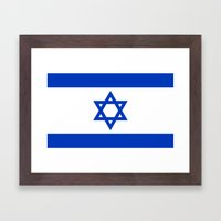 The National flag of the State of Israel Framed Art Print