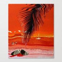 Stormy Sunset Canvas Print