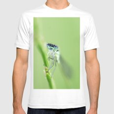 Somebody's watching me White Mens Fitted Tee SMALL