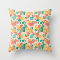 Tropicabana Throw Pillow