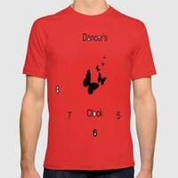 Dancer Clock Mens Fitted Tee Red SMALL