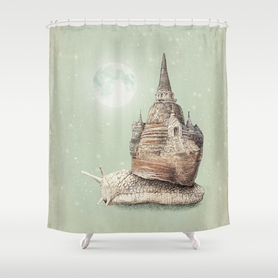 The Snail's Dream Shower Curtain
