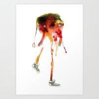 Mel Melonhead With Shoes Art Print