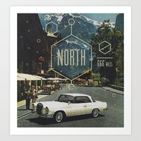 666 Miles North Art Print