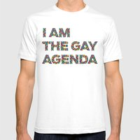 I Am The Gay Agenda Mens Fitted Tee White SMALL