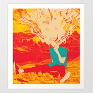 Art Print featuring Mountain High by Rendra Sy