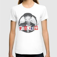 FASCISTS Womens Fitted Tee White SMALL