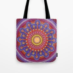 Jewel Drop Mandala Tote Bag