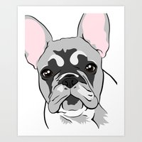 Jersey The French Bulldo… Art Print