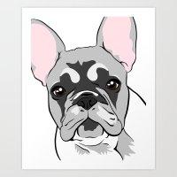 Jersey the French Bulldog Art Print