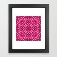 Pink Monochrome Geometri… Framed Art Print