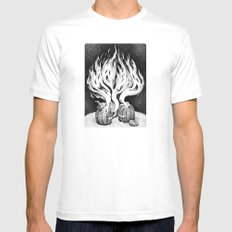 Escape White SMALL Mens Fitted Tee