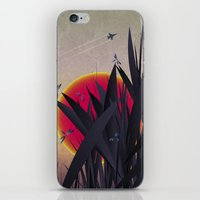 Red Heat with Dragonflies iPhone & iPod Skin