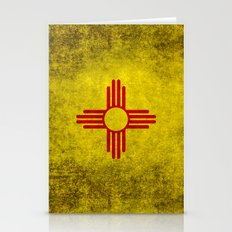Flag of New Mexico - vintage retro style Stationery Cards