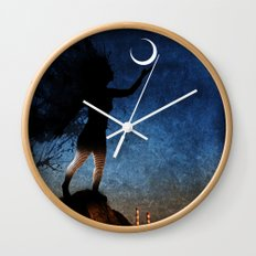 give the moon a little kiss for me Wall Clock