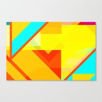 bipolar yellow Canvas Print