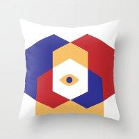 H E X   Eye Throw Pillow