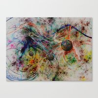 Painting Marbles Canvas Print